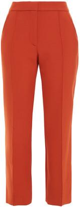 Victoria Victoria Beckham Stretch-cady Straight-leg Pants