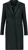 Joseph Leather-trimmed wool coat