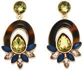 Catherine Stein Tortoiseshell-Look & Olive Drop Earrings