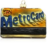 Mia Metrocard Glass Ornament