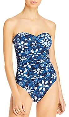 Bleu Rod Beattie Floral Batik One Piece Swimsuit