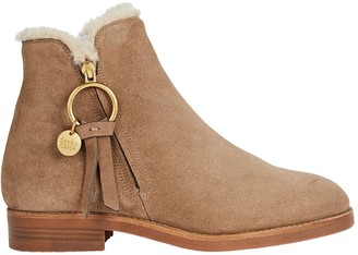 See by Chloe Louise Shearling Flat Booties