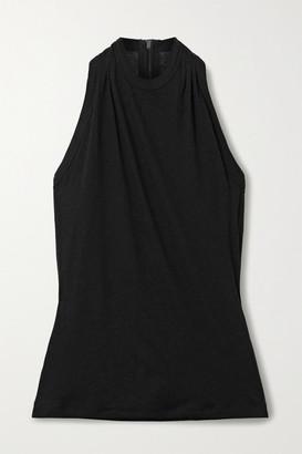 RtA Sabrina Slub Cotton And Cashmere-blend Tank - Black