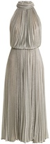 Maria Lucia Hohan Ballari pleated halterneck mesh dress