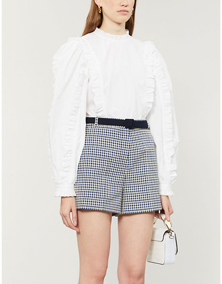 Claudie Pierlot Elgae high-rise woven shorts