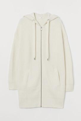 H&M Zip-up Cardigan - White