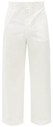 Givenchy Wide-leg Cotton-serge Suit Trousers - White