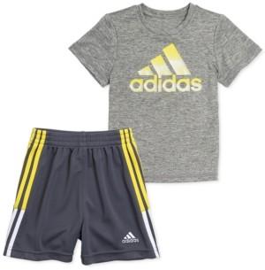 adidas Baby Boys 2-Pc. Heathered T-Shirt & Shorts Set