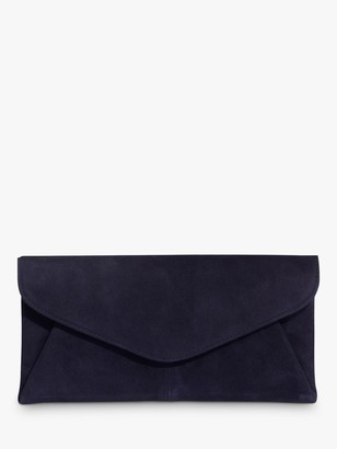 Phase Eight Wendie Suede Envelope Clutch Bag, Navy