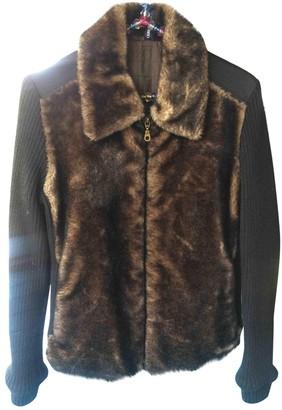 Cerruti Black Faux fur Leather Jacket for Women