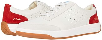 Clarks Hero Air Lace (White/Red) Men's Shoes