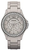 Fossil Women's Archival CE1073 Silver Stainless-Steel Analog Quartz Watch with Dial