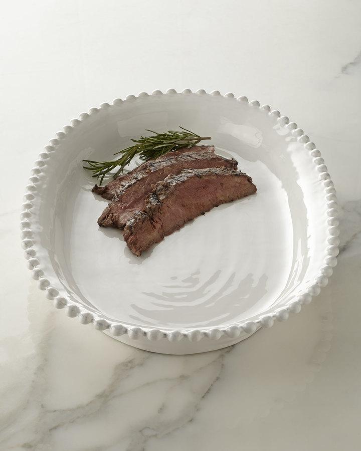 Horchow Beaded-Edge Oval Platter