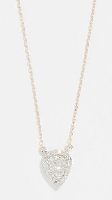Adina Reyter 14k Gold Solid Pave Teardrop Necklace