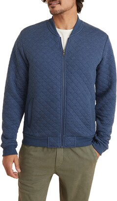 Marine Layer Corbet Quilted Bomber Jacket