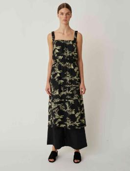 Just Female Mako Strap Dress - black | light lemon | 36 - Black/Black