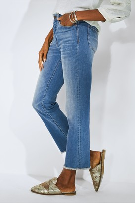 Talls The Ultimate High-Rise Frayed-Hem Crop Jeans
