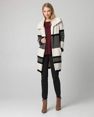 Le Château Stripe Knit Sweater Coat