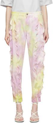 Stella McCartney Purple and Yellow Tie-Dye Trousers