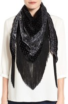 Collection XIIX Fringe Triangle Scarf