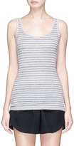 Vince Double stripe Pima cotton tank top