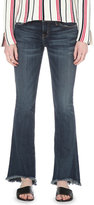 Current/Elliott Ladies Black Concealed zip Flip Flop Bootcut Mid-Rise Jeans