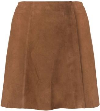Arma suede A-line mini skirt