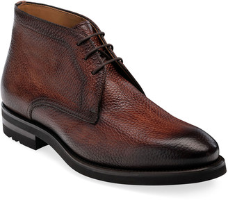 Magnanni Men's Malone Pebbled Leather Chukka Boots