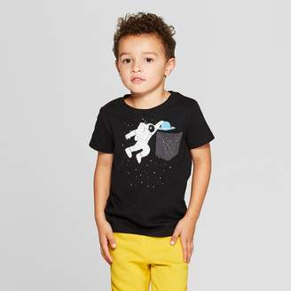 Cat & Jack Toddler Boy' Atronaut pace Dunk hort leeve T-hirt - Cat & JackTM 12M