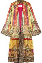 Etro Printed Plissé Washed-silk Jacket - Marigold