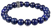 King Baby Studio Men's King Lapis Lazuli and Sterling Silver Stretch Bracelet
