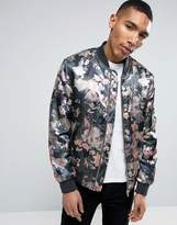 Asos Bomber Jacket With Floral Camo Print