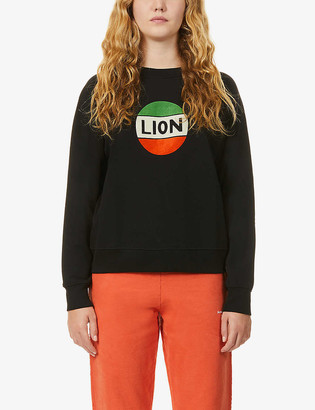 Bella Freud Lion Badge organic-cotton jersey jumper