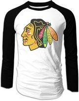 CDBA Chicago hawks Long Sleeve Baseball Jersey T Shirts For Mens