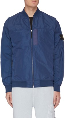 Stone Island Embroidered patch bomber jacket