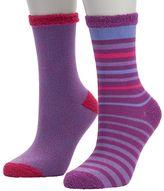 Cuddl Duds Girls 4-16 2-pk. Striped Crew Socks