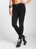 GUESS Sophia Mid-Rise Curvy Skinny Jeans in Black