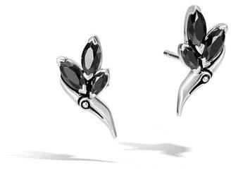 John Hardy Stud Earrings With Black Spinel