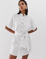 Pieces button through cotton dress