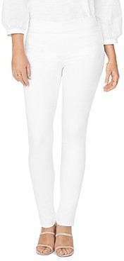 NYDJ Petites Pull-On Skinny Ankle Jeans in Optic White