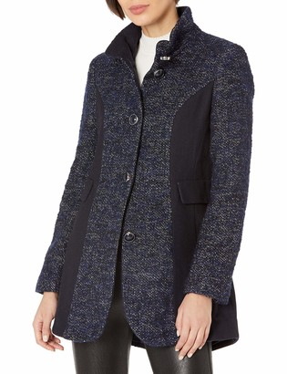 Kensie Women's Wool Color Block Coat