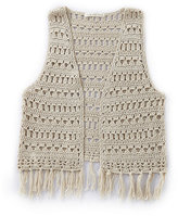 Copper Key 7-16 Crochet Open Vest