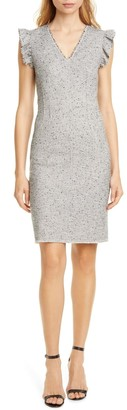 Rebecca Taylor Tailored By Tweed Sleeveless Sheath Dress