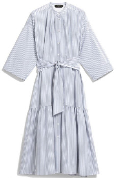 Max Mara Weekend Light Blue Nerina Cotton Poplin Dress - IT 40 (UK 8)