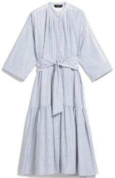 Max Mara Weekend Light Blue Nerina Cotton Poplin Dress - IT 44 (UK 12)