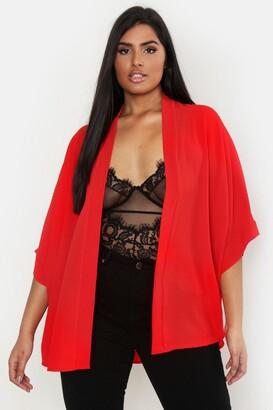 boohoo Plus Woven Kimono