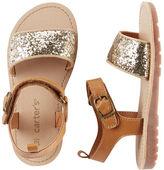 Carter's Glitter Strap Sandals