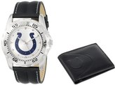 """Game Time Men's NFL-WWS-IND """"Watch & Wallet"""" Watch - Indianapolis Colts"""