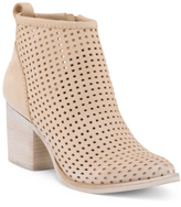 Perforated Nubuck Leather Booties