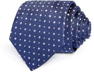 HUGO Diamond Dot Neat Silk Skinny Tie